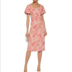 New MIKAEL AGHAL Coral Midi Dress Jacquard 12